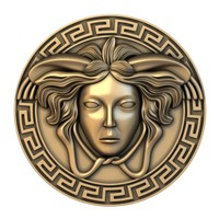 medusa medallion basrelief model