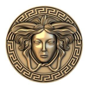 medusa medallion basrelief model