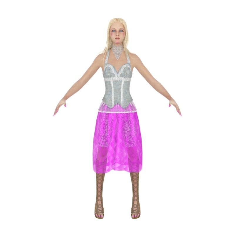 3D girl doll modelers model