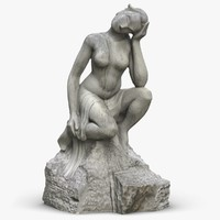 sculpture girl 3D model
