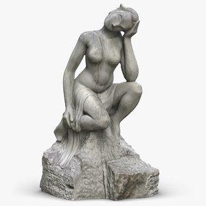 sculpture girl 3D model
