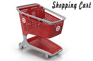 3D shopping cart model
