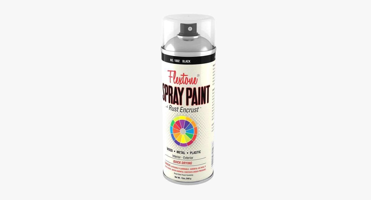 spray paint 3D model