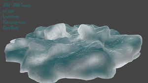 3D model snow frozen