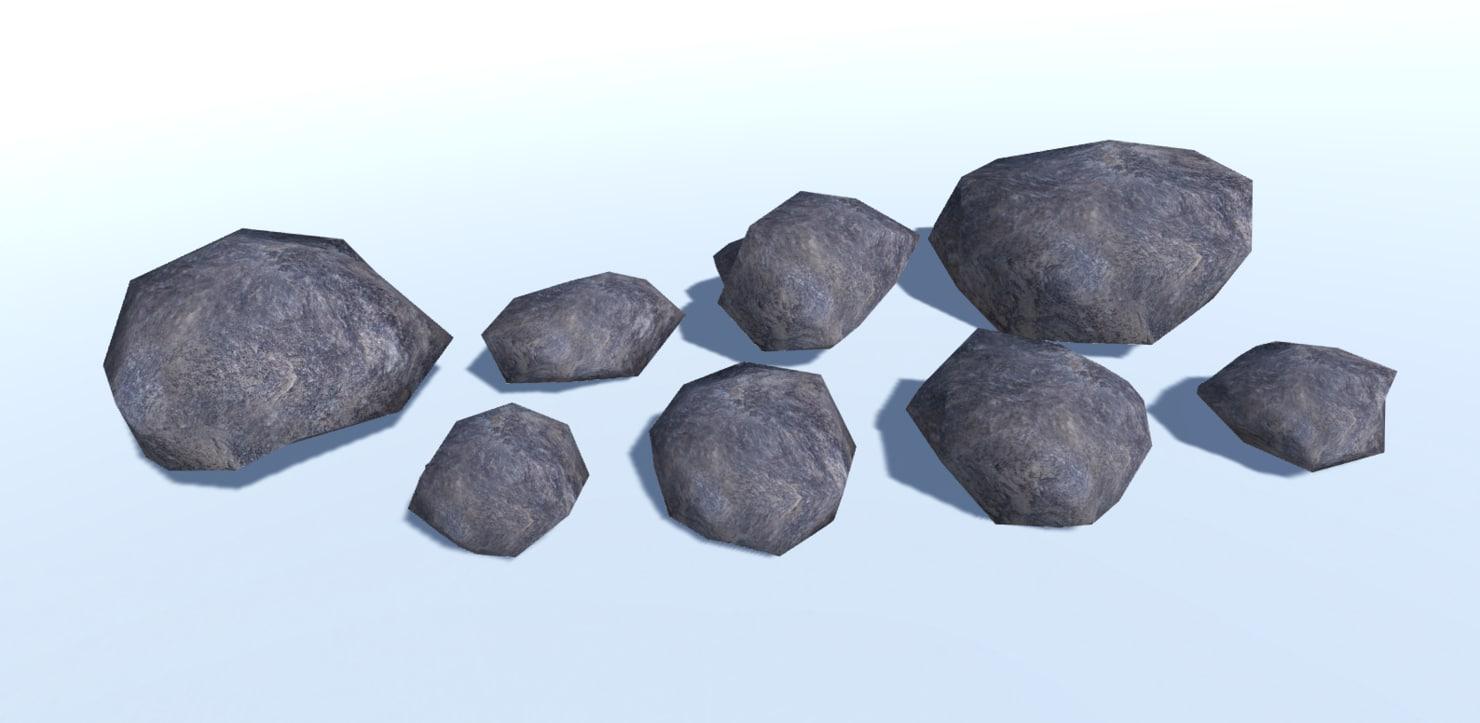 3D ultra rocks model