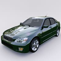 3D model car lexus 300