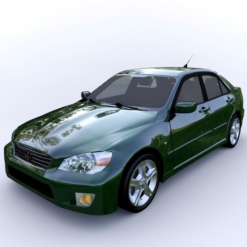 3D model car lexus 300