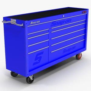 tool storage blue 3D model