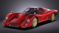 Mclaren M6GT 1969 24h lemans race car VRAY