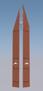 monument cross george 3D model