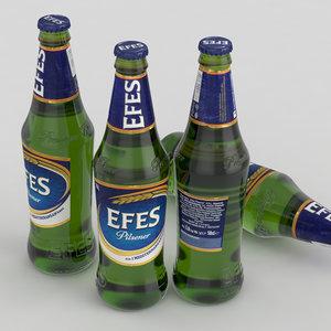 beer bottle efes model