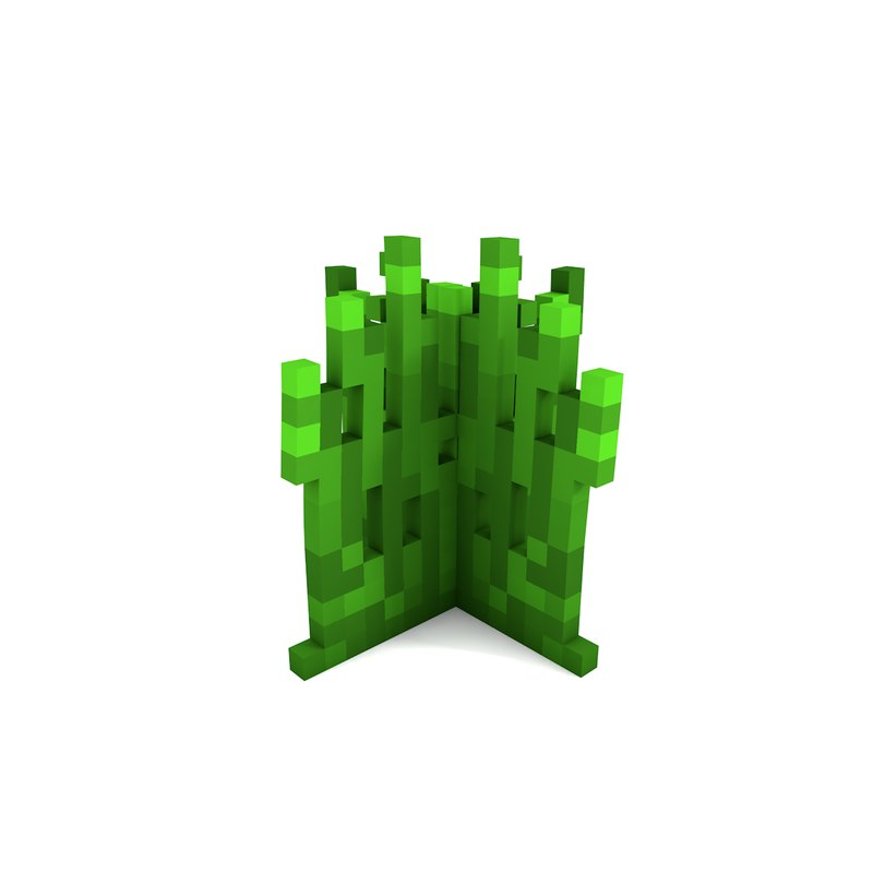 grass minecraft dynamic 3D model