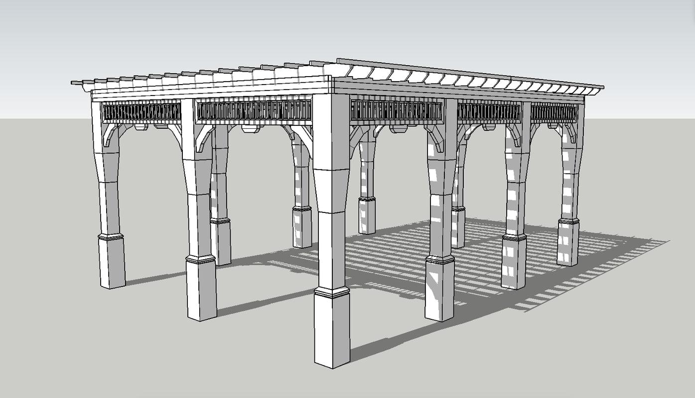 3D pergola model
