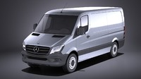 Mercedes Sprinter short low 2017 VRAY