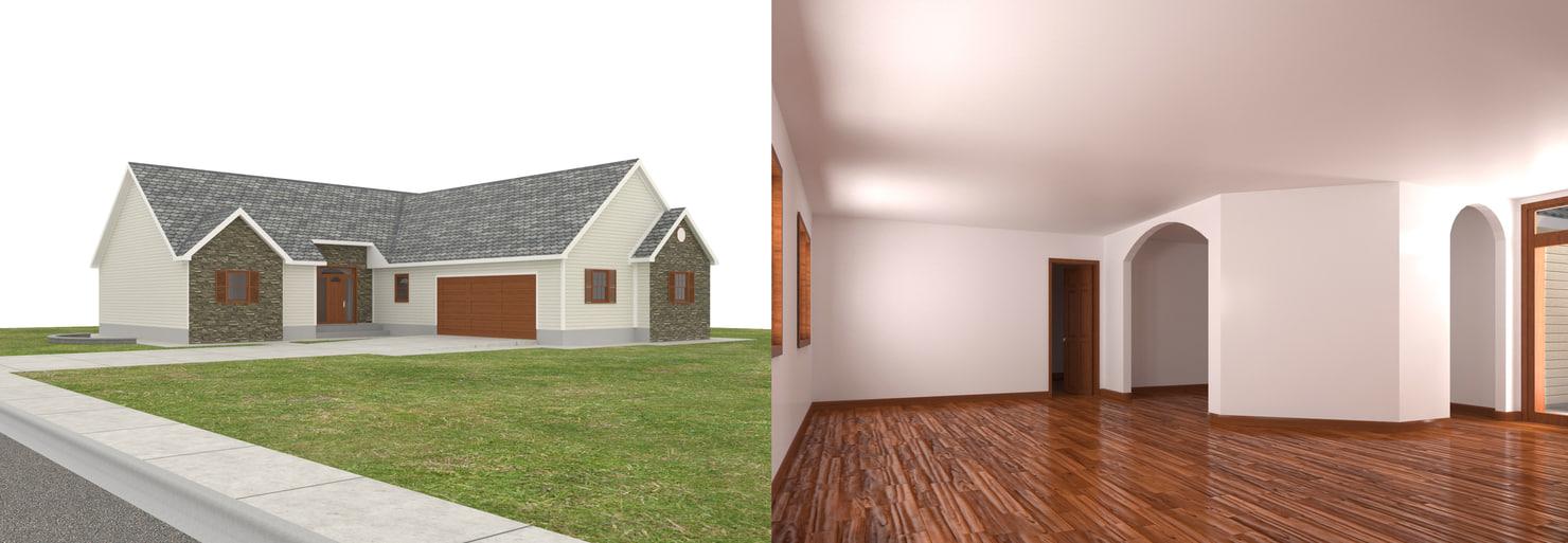 3D house-013 house interior