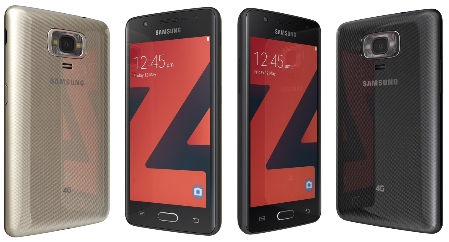 samsung z4 black gold 3D model