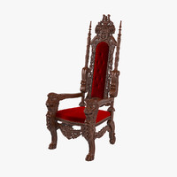 Lion King Red Velvet Throne Chair