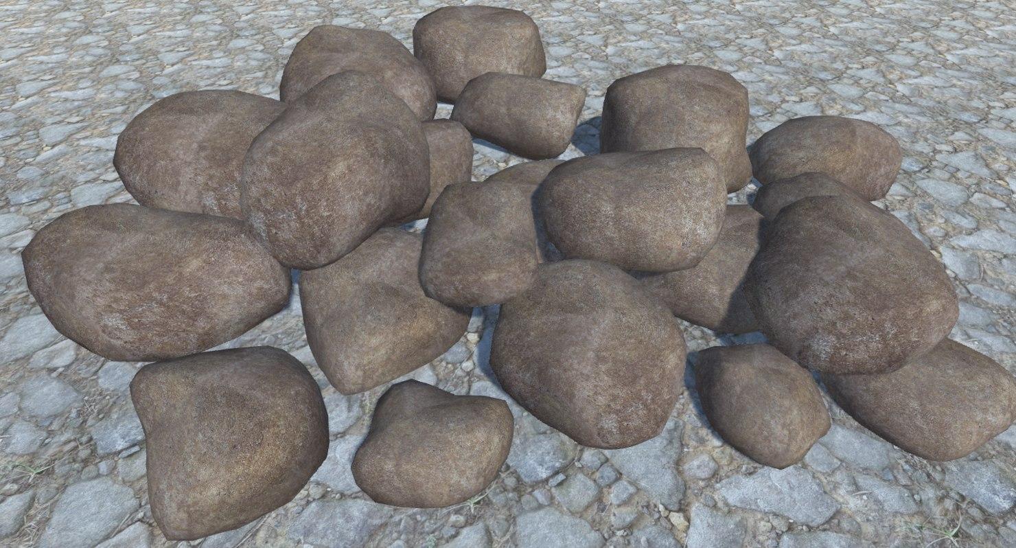 3D 21 rocks