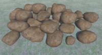 26 rocks 3D model
