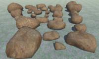 3D 29 rocks