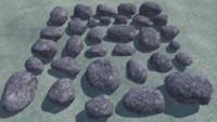 3D model 32 rocks