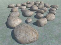 3D 34 rocks model
