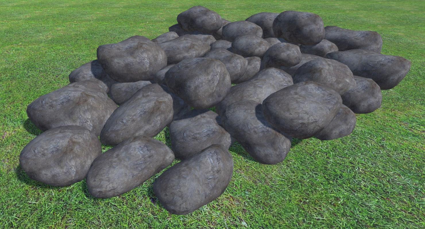 3D 42 rocks model