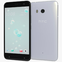 realistic htc u11 ice 3D model