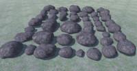 3D 44 rocks
