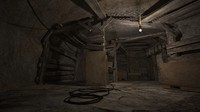 Underground secret passage mine 3 d scene model