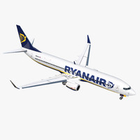 3D boeing 737-900 ryanair