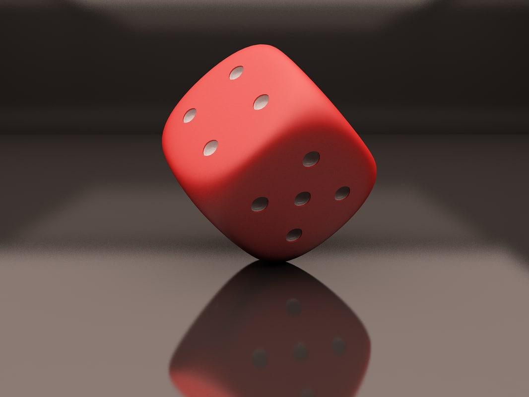 dice modeled 3D model