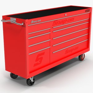 tool storage red 3D