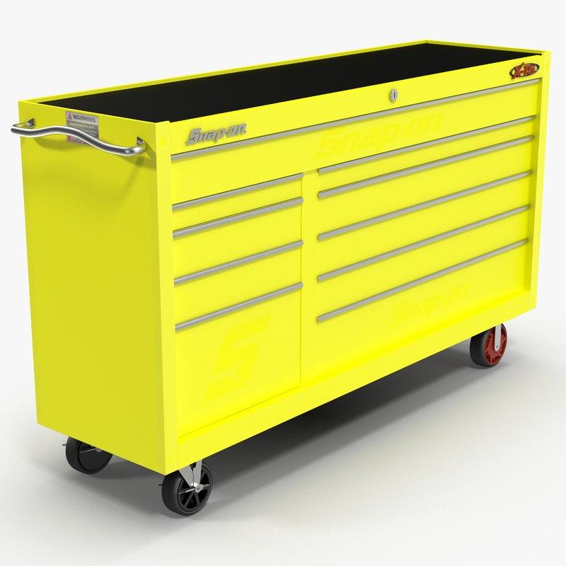 tool storage yellow 3D model