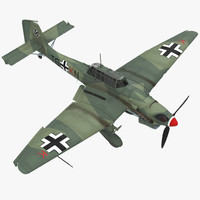 3D junkers ju 87 german model