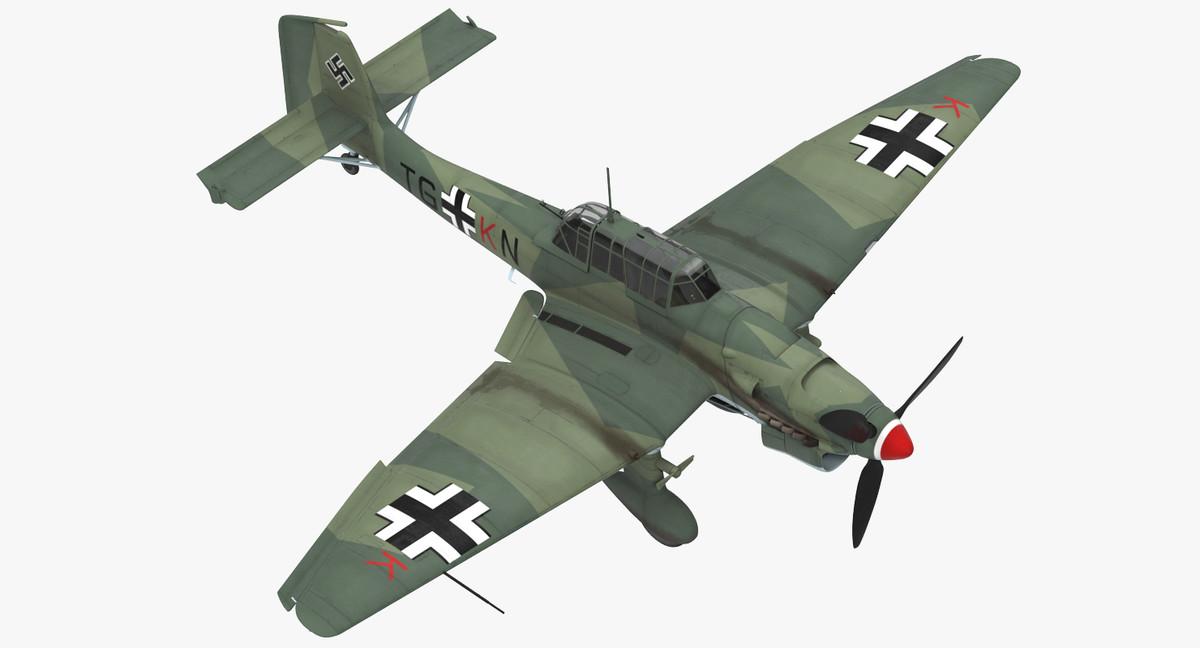 3D junkers ju 87 german model