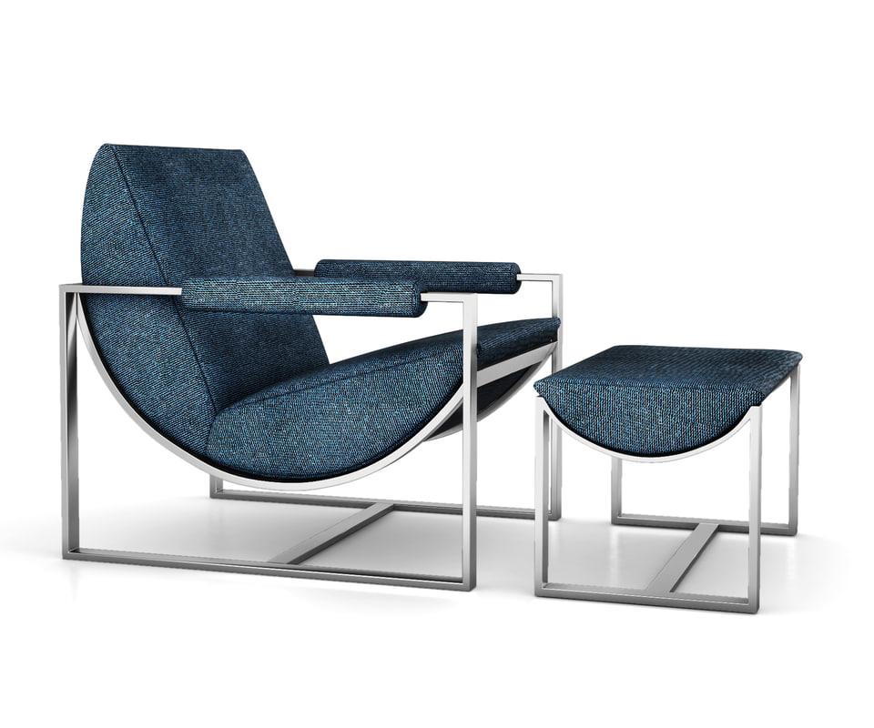 bower lounge chair 3D model