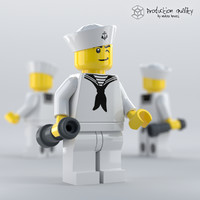 3D lego sailor figure
