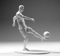 footballer 02 footstrike 01 3D model