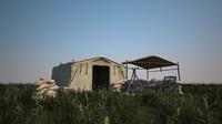 Camp camp tent scene 3D model