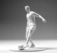 3D footballer ronaldo player