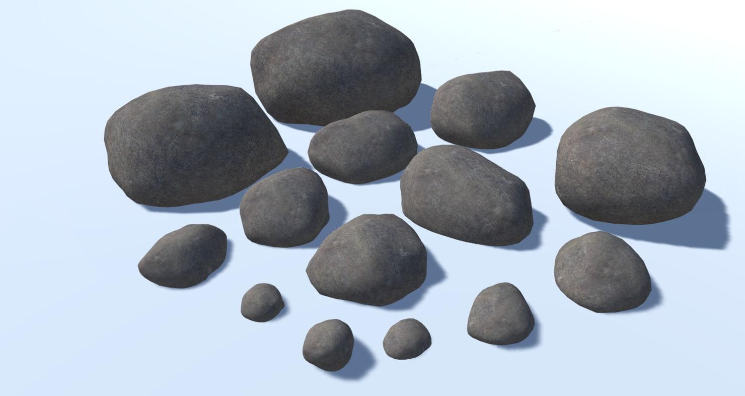 3D model rocks