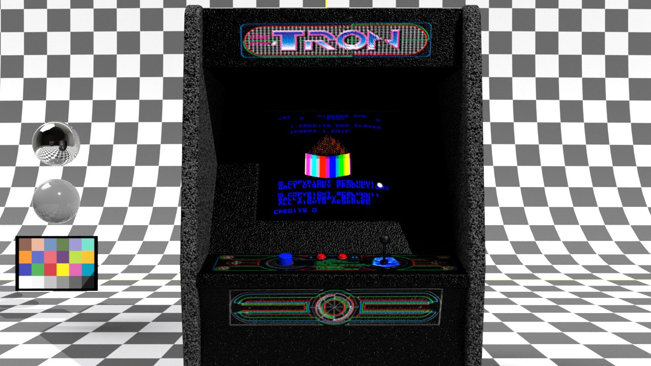 tron arcade machine 3D model