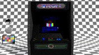 tron arcade machine 3D model