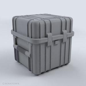 3D military case 02 armor