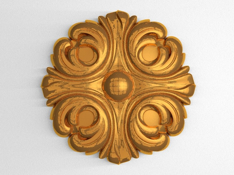 carved cnc decor 3D