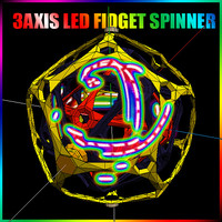 3D Fidget Spinner Design 3 Axis Hyper