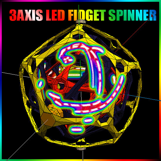 3D model fidget spinner spins 3