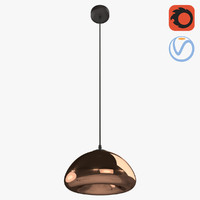 modern colored chrome lamp 3D