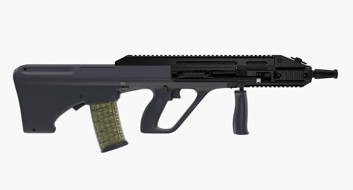 assault rifle steyr aug 3D model